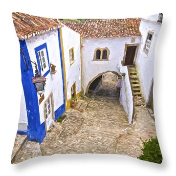 Romantic Obidos Throw Pillow