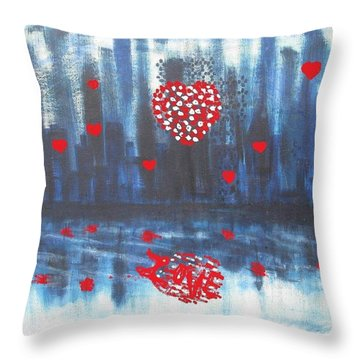 Romantic Reflection Throw Pillow by Diane Pape