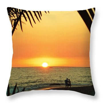Romantic Sunset Throw Pillow