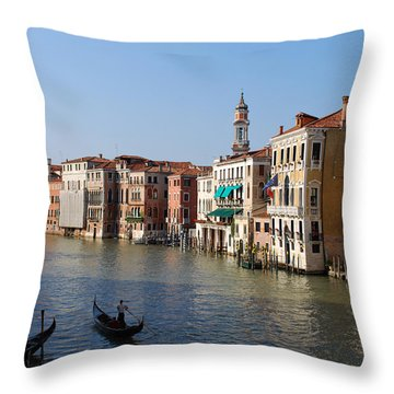 Romantic Venice Throw Pillow by Terence Davis