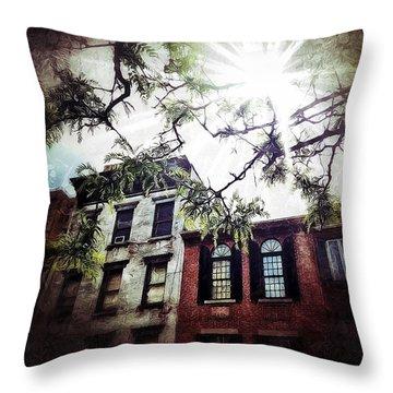 Romantic West Village Throw Pillow