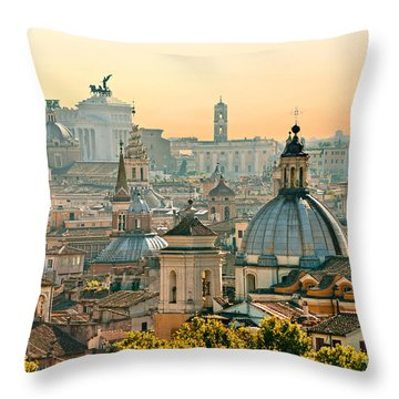 Rome - Italy Throw Pillow by Luciano Mortula