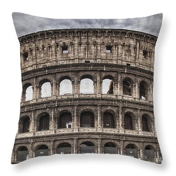 Rome Colosseum 02 Throw Pillow by Antony McAulay