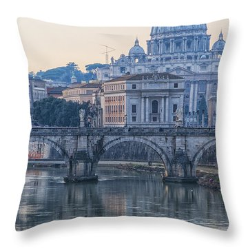 Rome Saint Peters Basilica 02 Throw Pillow by Antony McAulay