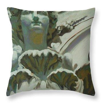 Rome Statue Throw Pillow by Khairzul MG
