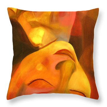 Romeo And Juliet Throw Pillow by Hakon Soreide