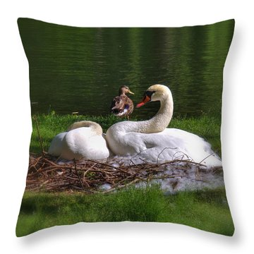 Romeo And Juliet In Boston Throw Pillow by Joann Vitali