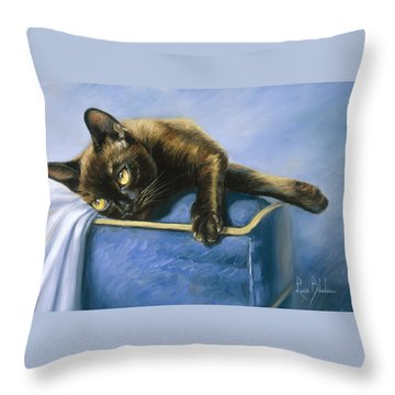 Romeo Throw Pillow by Lucie Bilodeau