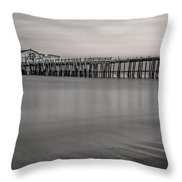 Romeo's Pier Bw Throw Pillow