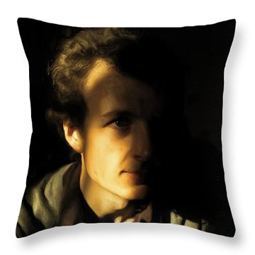 Throw Pillow featuring the digital art Ron Harpham by Ron Harpham