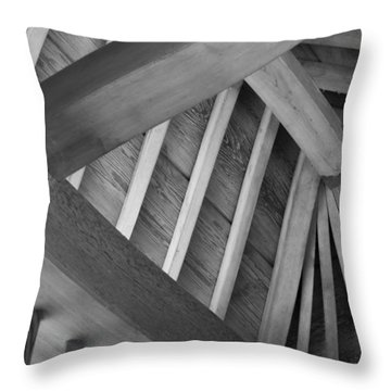 Roof Structure Throw Pillow
