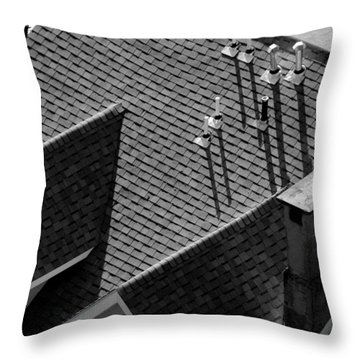 Throw Pillow featuring the photograph Rooftop by John Schneider