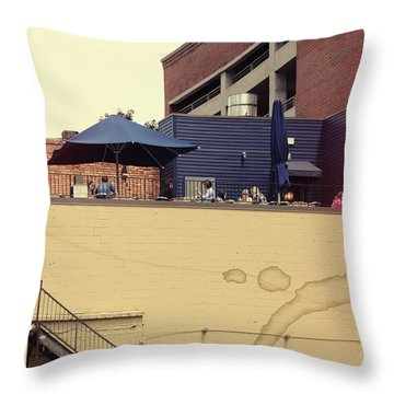 Rooftop Lunch Throw Pillow by Paulette B Wright