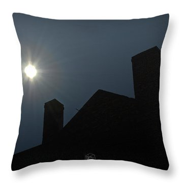 Rooftop Silhouette Throw Pillow by Brian Archer
