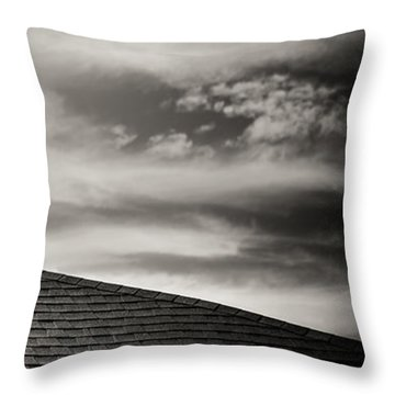 Throw Pillow featuring the photograph Rooftop Sky by Darryl Dalton