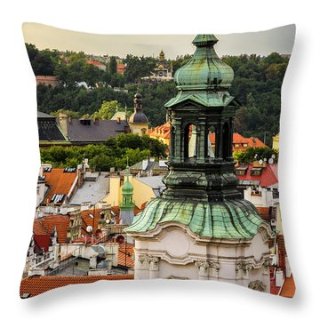 Rooftops Of Prague 1 Throw Pillow