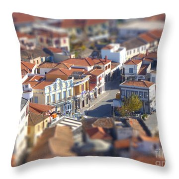 Throw Pillow featuring the photograph Rooftops by Vicki Spindler
