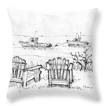Room For Two Monhegan Island 1993 Throw Pillow