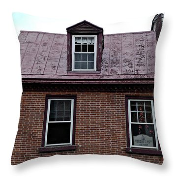 Room With A Red Tin Roof Throw Pillow by Richard Reeve