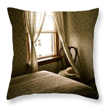 Throw Pillow featuring the photograph Room301 Irish Inn by Joan Reese