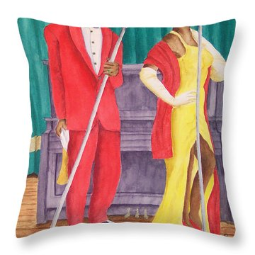 Roosevelt And Lola Throw Pillow by Rhonda Leonard