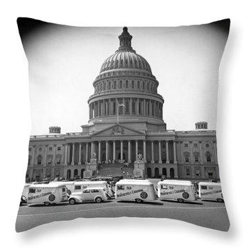 Roosevelt Caravan Trailers Throw Pillow