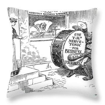 Roosevelt Cartoon, 1908 Throw Pillow by Granger