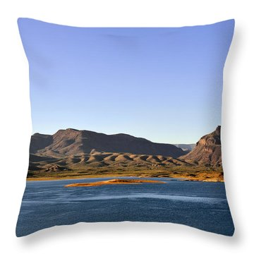 Roosevelt Lake Arizona Throw Pillow by Christine Till