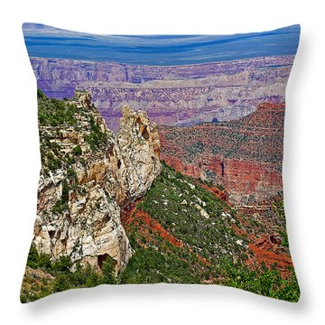 Roosevelt Point Two On North Rim/grand Canyon National Park-arizona   Throw Pillow