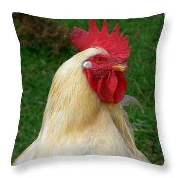 Rooster Cogburn Throw Pillow
