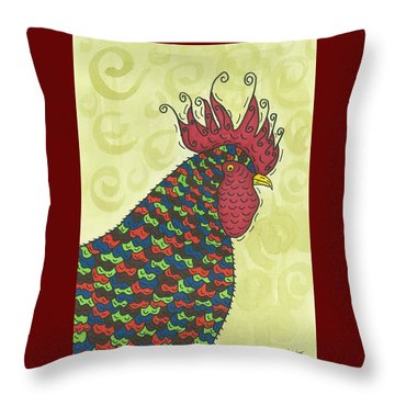 Rooster Comb Throw Pillow