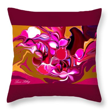 Rooster Throw Pillow by Loxi Sibley
