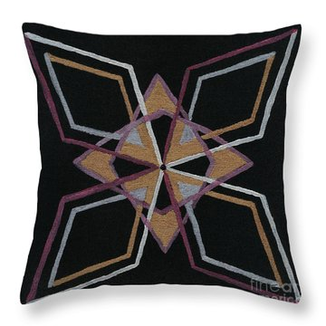 Root Dimension Throw Pillow