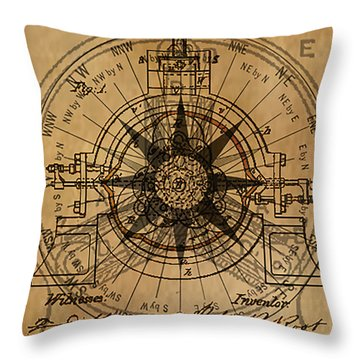 Root Patent I Throw Pillow