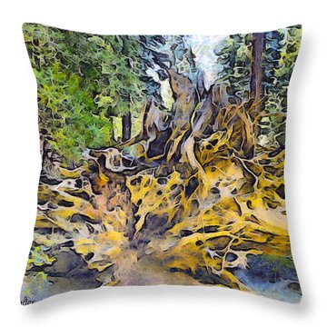 Roots Abstract Throw Pillow