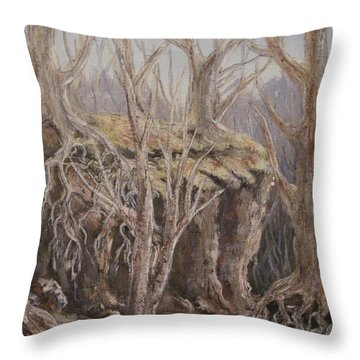 Throw Pillow featuring the painting Roots by Megan Walsh