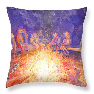 Roots Retreat Campfire Jam Throw Pillow
