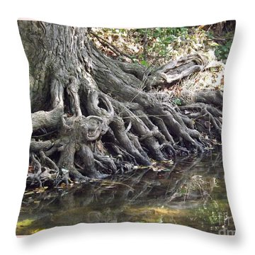 Roots With Verse Psalm 1 3 Throw Pillow