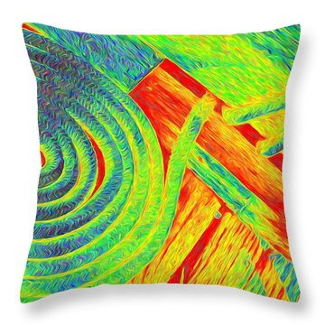 Rope Abstract Throw Pillow