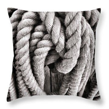 Rope Throw Pillow by Olivier Le Queinec
