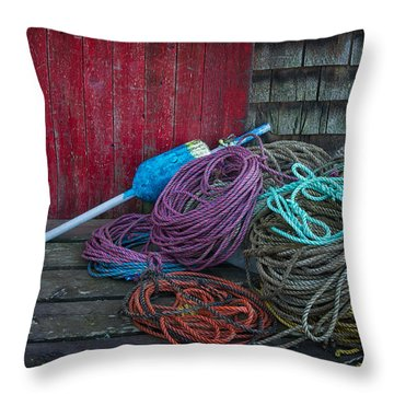 Ropes And Buoy Throw Pillow