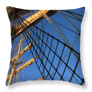 Ropes And Flags Throw Pillow