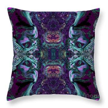 Rorschach Me Throw Pillow by Carol Jacobs
