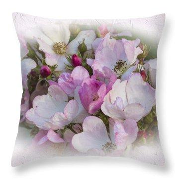 Rosa Throw Pillow by Elaine Teague