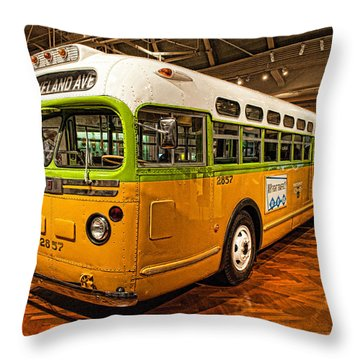 Rosa Parks Bus Throw Pillow