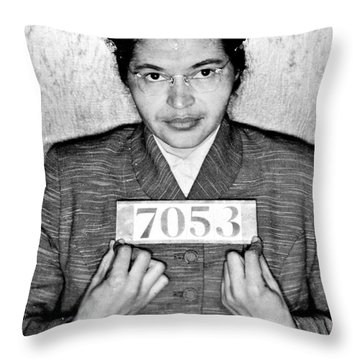 Rosa Parks Throw Pillow by Unknown