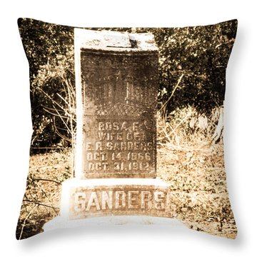 Rosa Sanders - Vintage Throw Pillow by Bob and Nancy Kendrick