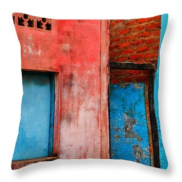 Rosa's Place Throw Pillow by Skip Hunt