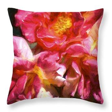 Rose 115 Throw Pillow by Pamela Cooper