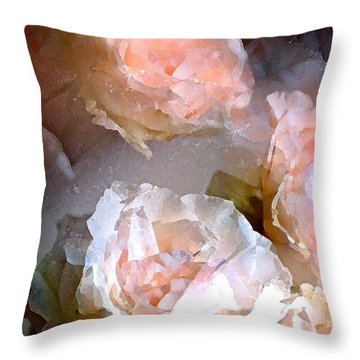 Rose 154 Throw Pillow by Pamela Cooper